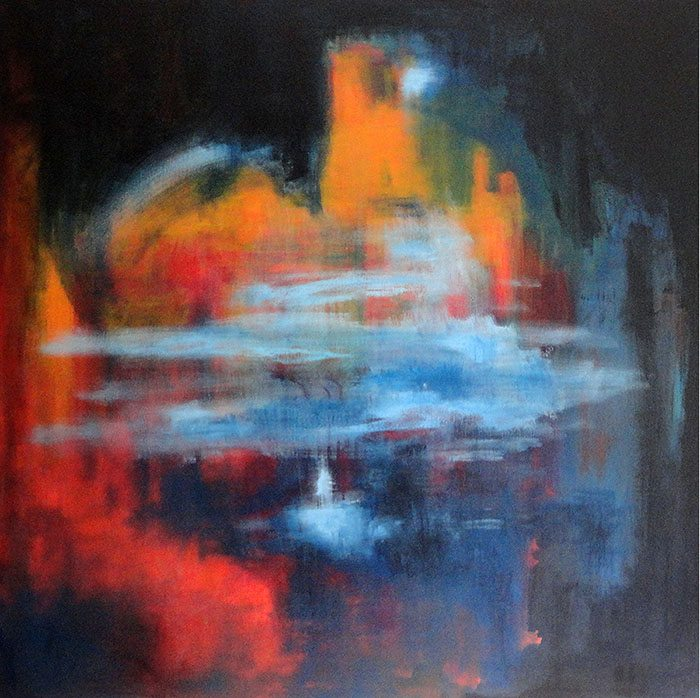 Christine Firehart - Winter Solstice, 100 x 100 cm, Acrylic on Canvas