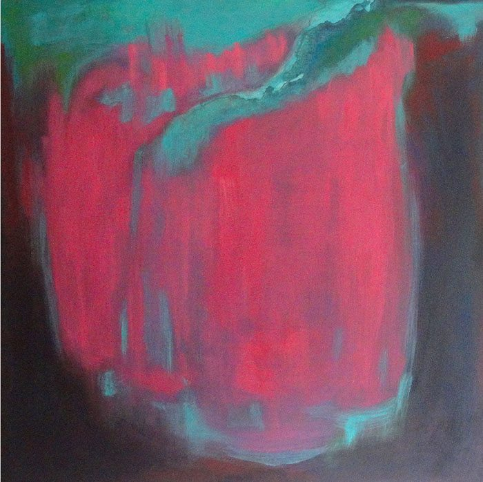 Christine Firehart - Cerise, 100 x 100 cm, Acrylic on Canvas
