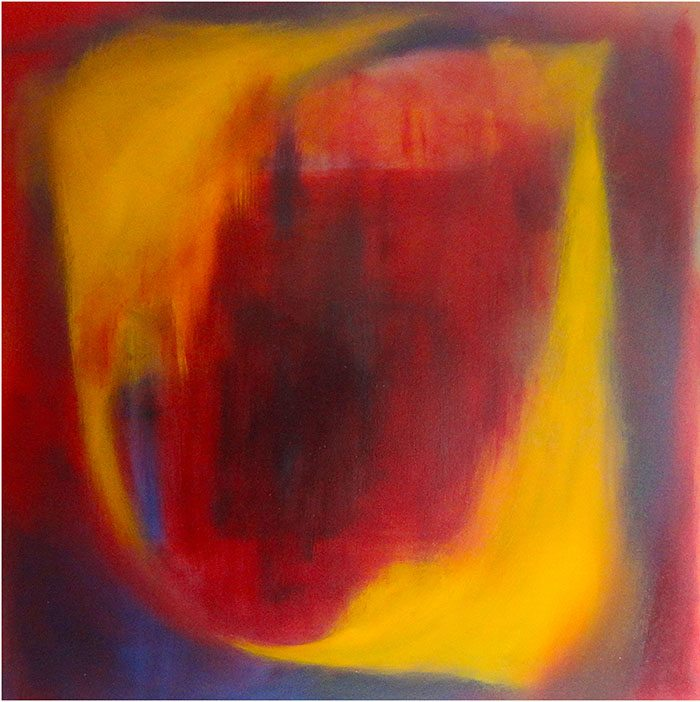 Christine Firehart - Rouge 2, 100 x 100 cm, Acrylic on Canvas