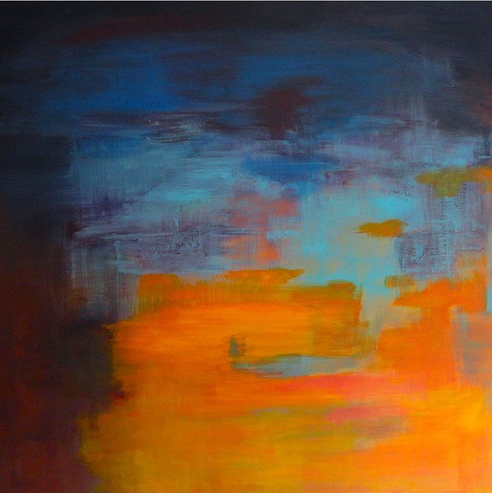 Christine Firehart - Yellow, 100 x 100 cm, Acrylic on Canvas